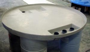 Photo d'une cuve en résine pour le traitement des eaux conçue et fabriquée par Alistep