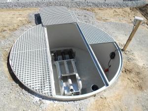 Photo d'une cuve Acqua pour eaux brutes conçue et fabriquée par Alistep